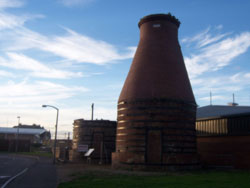 Porotbello Kilns, one of which collapsed during renovation work, Autumn 2006'